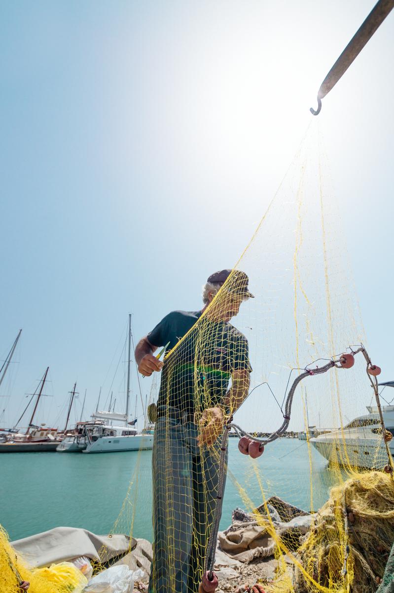 santorini fisherman